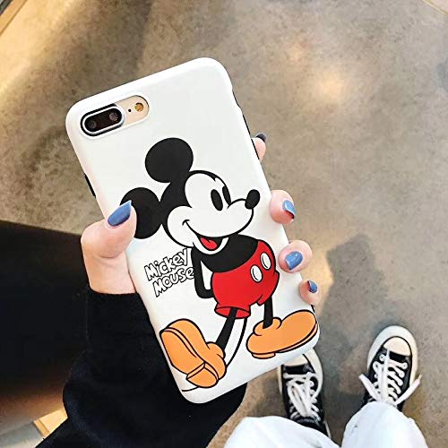 Maxlight Mickey Minnie Mouse Case for iPhone 8 X 7 Plus XR XS MAX Lovely Back Cover Case for iPhone 7 Cute Soft TPU Shell (Style2, for iPhone Xs Max) ()