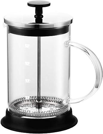 XWSH Tetera de Vidrio de Acero Inoxidable cafetera Manual de café ...