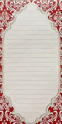 choose-from-christmas-holiday-magnetic-notepads-blank-notecards-red-nouveau-border-notepad
