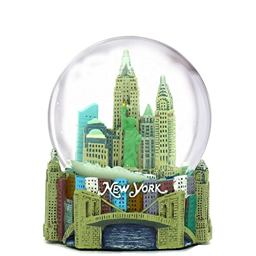(Mini New York City Snow Globe (2.5 Inch) NYC Skyline in This Souvenir Figurine with Statue of Liberty, (45mm Globe))