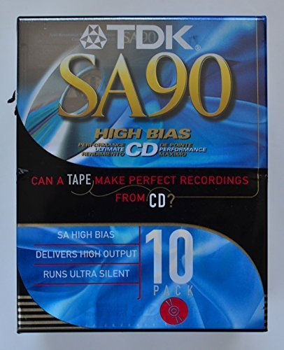 TDK SA90 High Bias CD Super Avilyn Type II Audio Cassette Tapes - Pack of ()