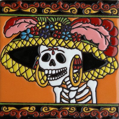 6x6-the-lady-in-hat-day-of-the-dead-clay-tile