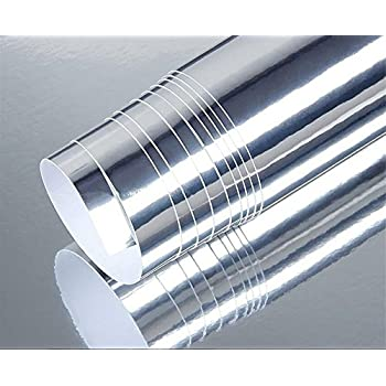 24 39 39 x78 39 39 chrome mirror silver vinyl wrap for Mirror 48 x 60