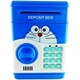 Emob Money Safe with Smart Electronic Lock Piggy Bank for Coin/Bills (Blue)
