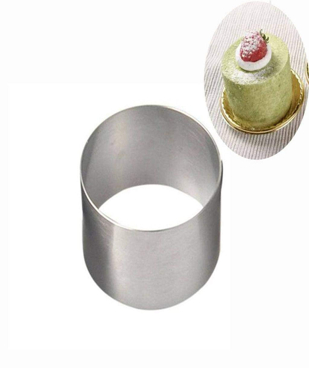 Barlingrock 1 Pc Mini Round Mousse Cake Food Grade Stainless Steel Pastry Ring for Baking Wedding Birthday Christmas Cake Baking