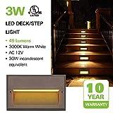 Low Voltage LED Landscape Deck Light, 3W 49LM 12V
