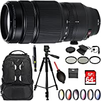 Fujifilm Fujinon XF100-400mm F4.5-5.6 R LM OIS WR X-Mount Lens Bundle with Tamrac ANVIL DSLR Backpack PLUS Accessories