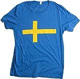 Swedish Flag | Vintage Style, Retro-Feel Sweden Flag & Kronor Unisex T-shirt-Adult,M