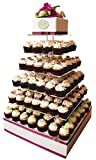 Large 7 Tier Wedding Party Cupcake Tower Stand-Cake and Dessert Tower - 18 Inches Cake Stand (7S) (Large)