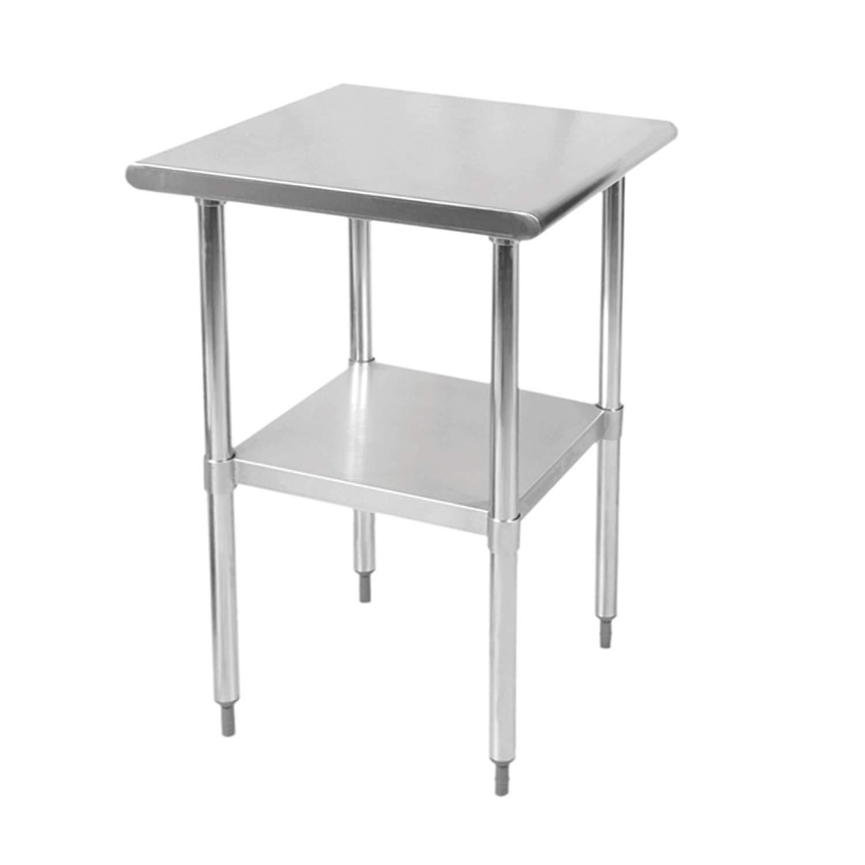 TigerChef TC-20220 Flat Top Work Table, SLWT42418F, 24'' x 18'' x 34'' Size by TigerChef