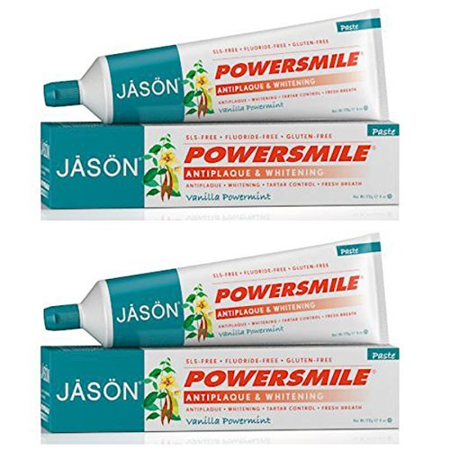 Jason PowerSmile Vanilla Mint Toothpaste with Anise, and Grapefruit, 6 fl. oz. (Pack of 2)