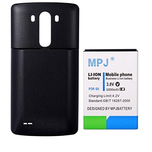 LG G3 Extended Battery, MPJ 6000mAh Li-ion High Capacity Ext