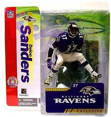 huge discount f6110 3fa13 Amazon.com: Deion Sanders #37 Baltimore Ravens Purple Jersey ...