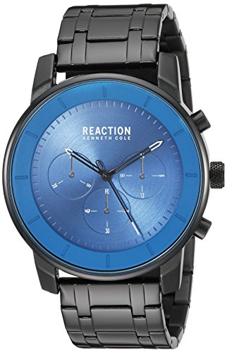 Kenneth Cole REACTION Men's Quartz Metal and Stainless Steel Casual Watch, Color:Black (Model: RK50082009)