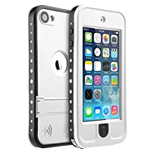iPod Touch 5 Waterproof Case, iThroughTM iPod touch 5 Waterproof Case with Stand, Dust Proof, Snow Proof, Shock Proof Case, Scratch Protective Carrying Cover Case for iPhone iPod touch 5 (White)