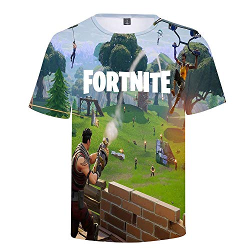 Fortnite Game 3D Print T-Shirt Cool and Fashion Style Sport Shirt Women/Men Clothes (XL, color2)