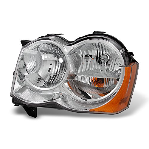 For 2008 2009 2010 Jeep Grand Cherokee Halogen Type Driver LH Left Side Headlight Headlamp Replacement