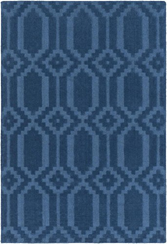 Super Area Rugs Area Rug, Blue Transitional Handmade Wool 3-D Diamonds Carpet, 3' x 5'