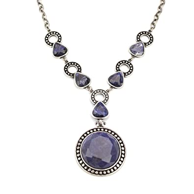 opaline blue barcelona sodalite products necklace petrallure