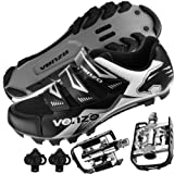 Venzo Mountain Bike Bicycle Cycling Shimano SPD Shoes + Multi-Use Pedals 44.5