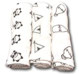 Baby Swaddle Receiving Blankets - 100% Organic Muslin Cotton - Unisex - Large 47