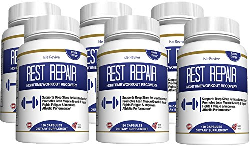BCAA Branched Chain Amino Acids - L-Glutamine L-Leucine Pre and Post Workout Recovery Supplement for Muscle Building Fat Burner Energy Booster for Men Women Health and Wellness 6 Bottles 150 Capsules by Isle Revive