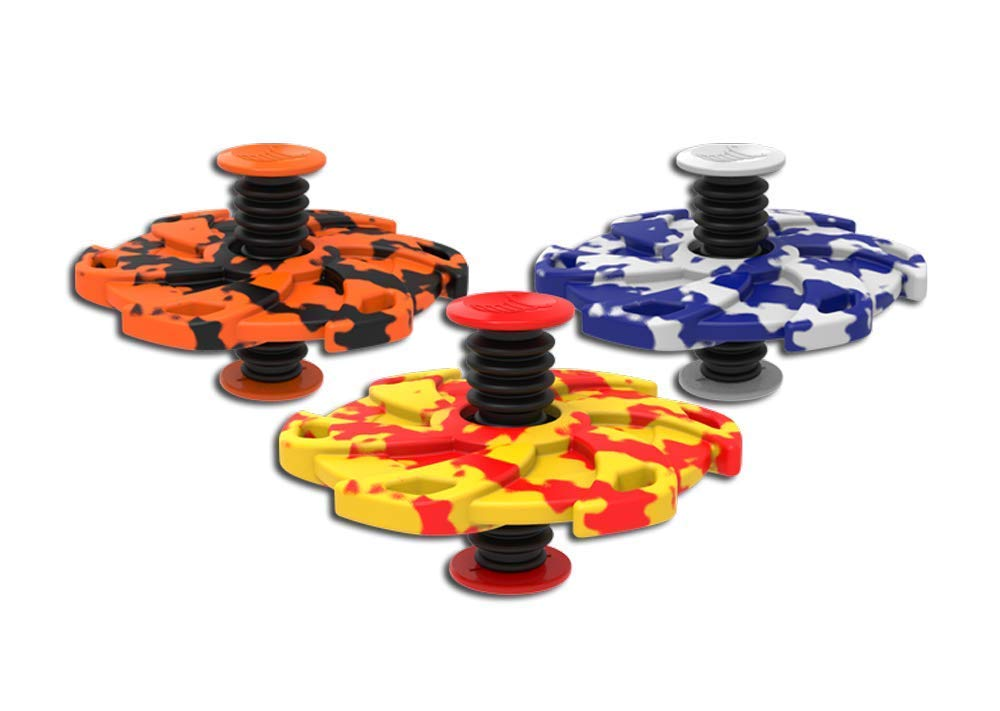 Spinnobi Original - The Bouncing Kids Toys. in & Outdoor Toys. Yard Games for Boy Toys and Girls Toys. Cool Fidget Spinners. 3 Pack (Star) by Spinnobi