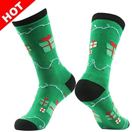 Cartoon Socks, Gmark Mens Womens Winter Warm Thickened Crew Socks Valentine's Day Gift,Green