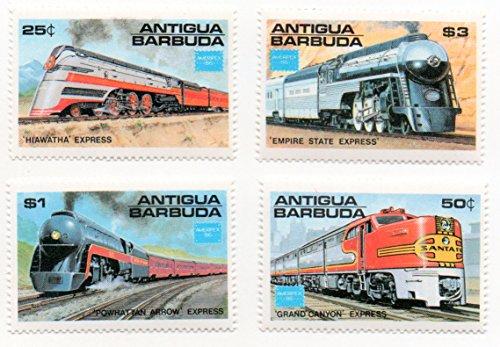 Antigua & Barbuda Postage Stamp Set 1986 Train Railway Issue Ameripex 86 Scott #944-947 ()