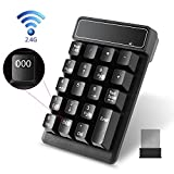 Image of Wireless Numeric Keypad,Eeltek 19 Keys Waterproof 2.4G Wireless Number Keyboard with Mini Receiver for Laptop/PC/Mac, Compatible with Windows and Mac OS