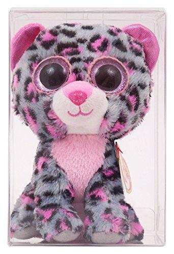 3d1dc66dabc TY Big Eyes Beanie Boo Plush Toy Doll Tasha The Leopard