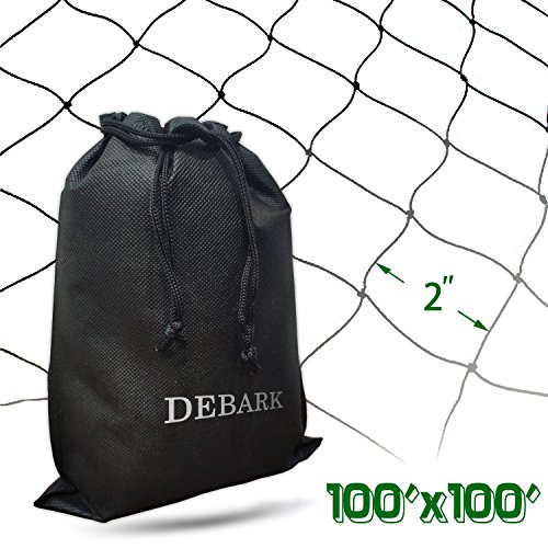 2' Poultry Net - TZYD Net Netting for Bird Poultry Aviary Game Pens Economical Bird Netting-Protect Blueberry,Plants and Vegetables from Ows (100ft x 100ft - 2'')