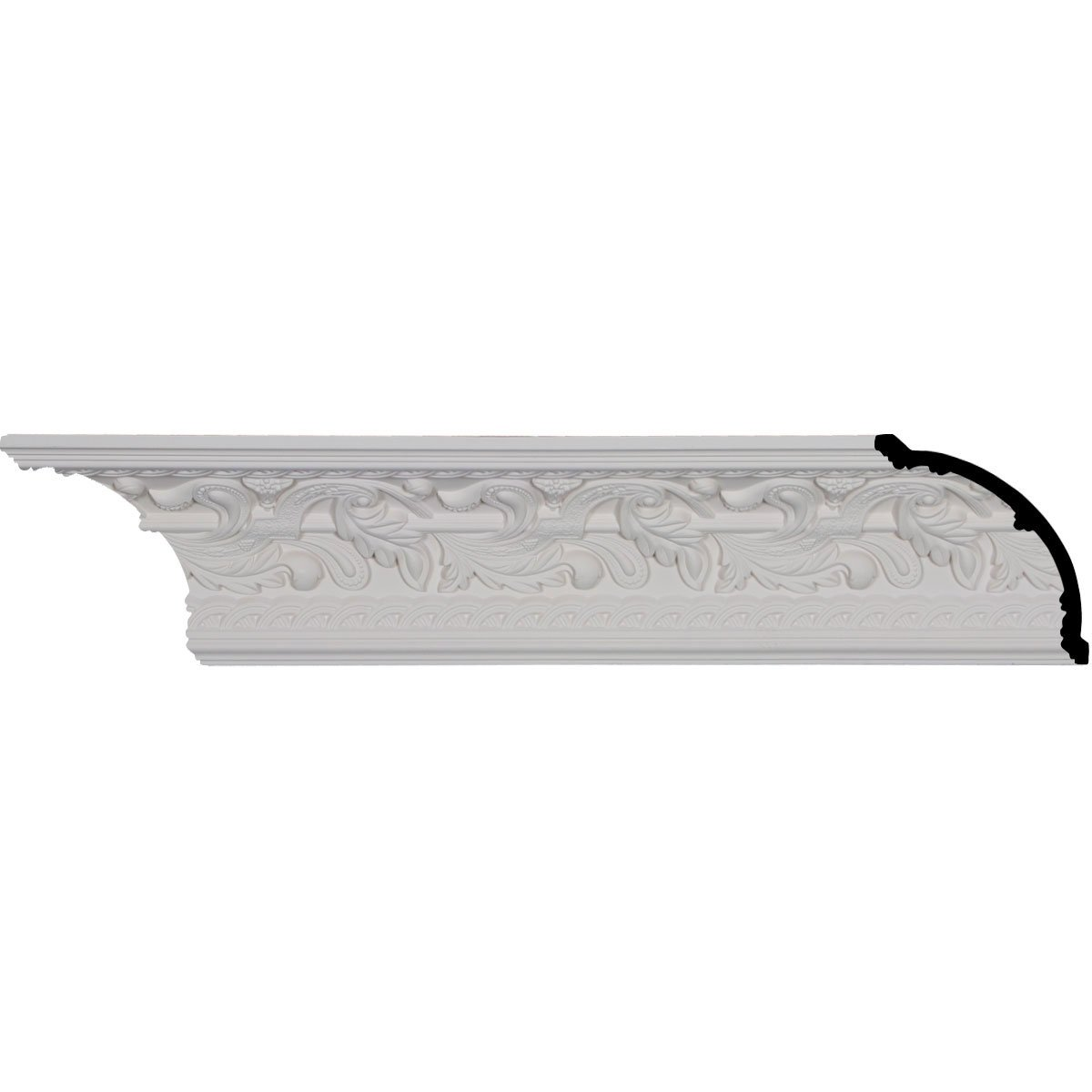 4 3/4'' H x 4 3/4'' P x 6 3/4'' F x 94 1/2'' L, (6 7/8'' Repeat), Kinsley Crown Moulding (2-Pack)