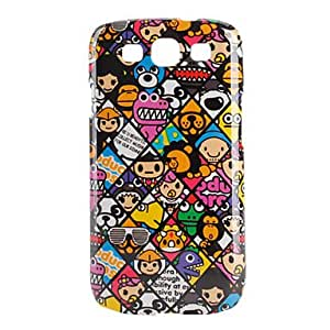 QHY Colorful Cartoon Animal Pattern Hard Case for Samsung Galaxy S3 I9300 (Multi-Color)