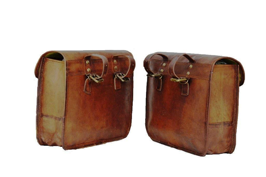 CH 2 alforjas Laterales para Motocicleta, Color marrón, de ...