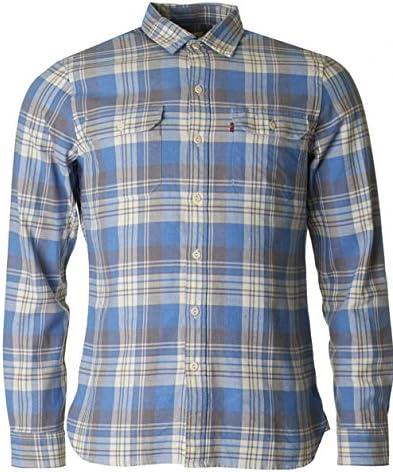 Levis Jackson Worker Camisa, Azul (Piva Dutch Blue), Medium ...