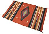 Splendid Exchange Hand Woven Acrylic Southwest Area Rug, 4 Feet by 6 Feet, Large Diamond Rust Red