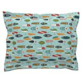 Roostery Fishing Lure Fishing Lure Vintage Retro Antique Bright Pillow Sham
