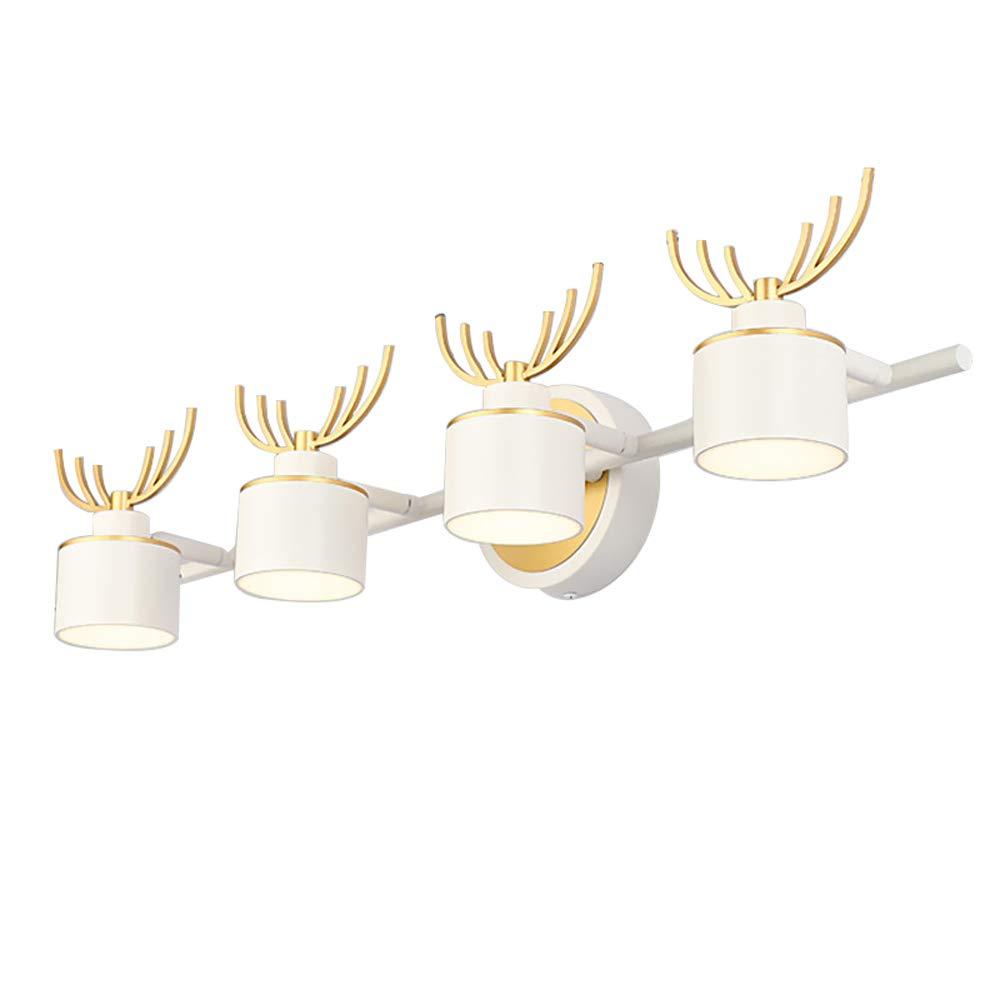 HUIJU SpiegelFrontlampe, LED 3 Köpfe 9W Cool Weiß Bathroom Wall Light Bathroom Light Make-up Lighting Metal + Acryl,4heads6W