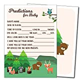 25 Baby Shower Prediction and Advice Cards, Boy or Girl - Baby Shower Games - Woodland Animals
