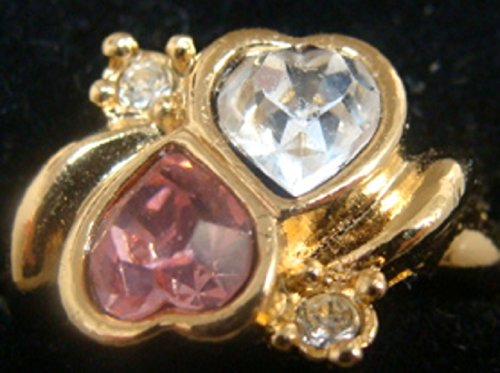 - Avon Two Heart Womens Ladies Goldtone Ring Size 9