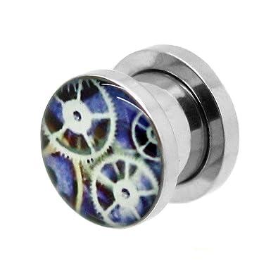 tumundo 1 Pieza o Kit Túnel Dilataciones Acero Inox Pendientes Piercing Expansor Aparato de Relojería Clock Ø 3-10mm, modelo:10 mm Tunnel: Amazon.es: ...
