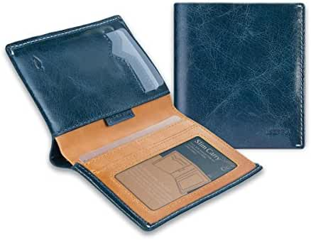 Ikepod Slim Carry Wallet (8 Colours) [ Italy Made//Top Leather] [RFID Blocking and Slim Stitching!]