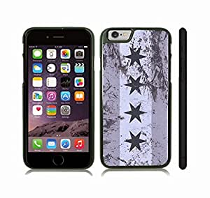 iStar Cases? iPhone 6 Plus Case with Chicago Flag Grunge Look Design , Snap-on Cover, Hard Carrying Case (Black)