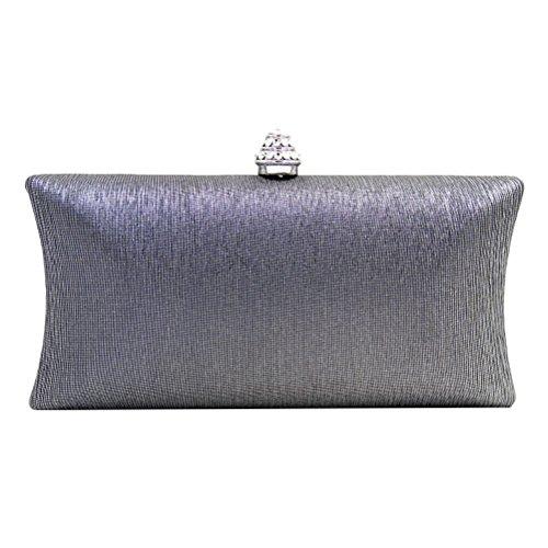 Zhhlaixing Bolsos hermosos Multicolor Evening Party Bags Rhinestones Ornaments Designer Handbags para mujer Silver