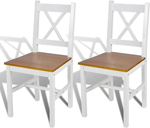 Xingshuoonline - 2 sillas de Mesa de Madera, Color Natural y ...