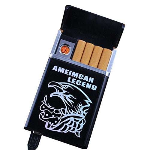 Cigarette Box With Lighter Smoking 8pcs Cigarette Case Creative USB Charging Cigarette Lighter