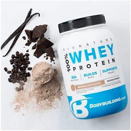 Bodybuilding Signature 100% Whey Protein Powder | 25g of Protein per Serving (Mocha Cappuccino, 5 Lbs)