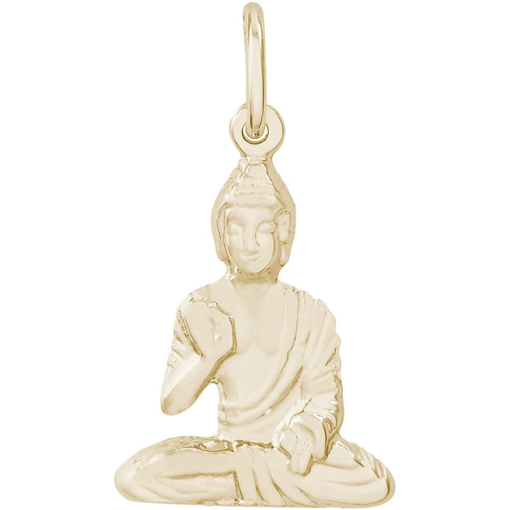 Rembrandt Charms Buddha Charm, 14K Yellow Gold