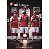 OFFICIAL ARSENAL FC PREMIER LEAGUE 2018 WALL CALENDAR (11 INCHES x 17 INCHES) SHIPS FROM USA